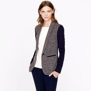 J. Crew | Gray & Blue Contrast Knit Blazer